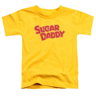 Tootsie Roll/Sugar Daddy Short Sleeve Toddler Tee in Yellow