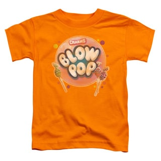 Tootsie Roll/Blow Pop Bubble Short Sleeve Toddler Tee in Orange