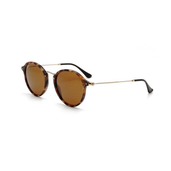 6c00039a8704b Shop Ray-Ban RB2447 1160 Men s Round Fleck Tortoise Gold Frame Brown ...