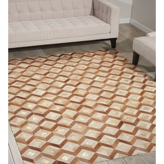 Nourison Leather Toffee Area Rug (8' x 10')