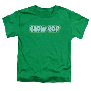 Tootsie Roll/Blow Pop Logo Short Sleeve Toddler Tee in Kelly Green