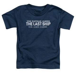 Last Ship/Find The Cure Short Sleeve Toddler Tee in Navy