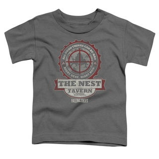 Falling Skies/The Next Short Sleeve Toddler Tee in Charcoal