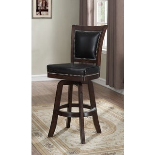 Allentown Mahogany Bonded Leather Bar Height Stool