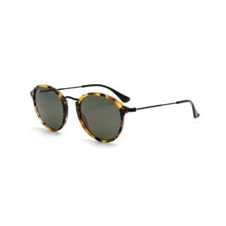 Ray-Ban Round Fleck RB2447 1157 Tortoise/Black Frame Green Classic Lens Sunglasses