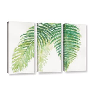 Chris Paschke's 'Ferns III' 3 Piece Gallery Wrapped Canvas Set