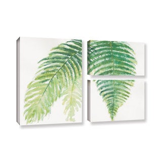 Chris Paschke's 'Ferns III' 3 Piece Gallery Wrapped Canvas Flag Set