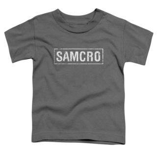 Sons Of Anarchy/Samcro Short Sleeve Toddler Tee in Charcoal