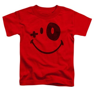 Smiley World/Fight Club Short Sleeve Toddler Tee in Red