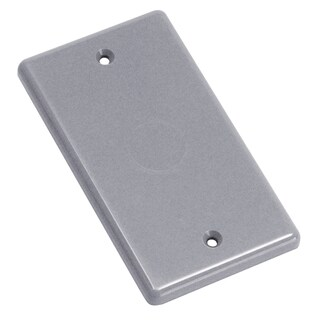 Carlon Rectangle Plastic 1 gang Blank Box Cover For For use with Handy Box model B112HBR Gray