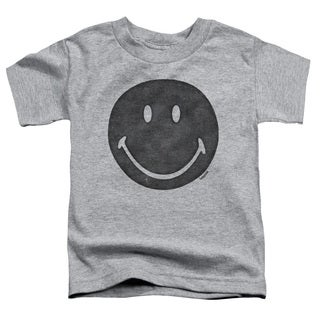 Smiley World/Rough Face Short Sleeve Toddler Tee in Heather