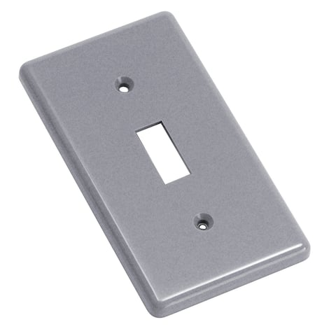 Carlon 1 gang Gray Plastic Toggle Switch Plate 1 each