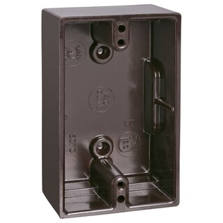 Thomas & Betts 5070-BR Brown Single Gang Boxes