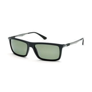 Ray-Ban RB4214 601S9A Men's Black/Gunmetal Frame Polarized Green 59-millimeter Lens Sunglasses