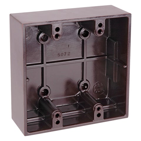 Thomas & Betts 5072-BR Brown Two Gang Boxes