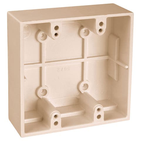 Thomas & Betts 5072-IV Ivory Two Gang Boxes