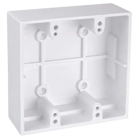 Thomas & Betts 5072-WH White Two Gang Boxes
