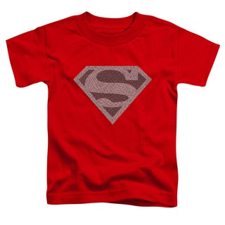 Superman/Elephant Shield Short Sleeve Toddler Tee in Red