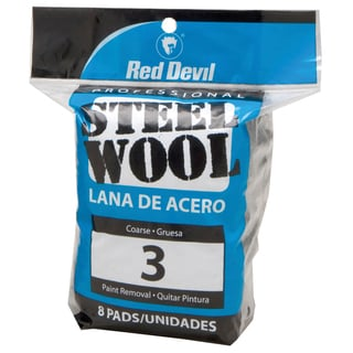Red Devil 0326 #3 Steel Wool 8 Pack