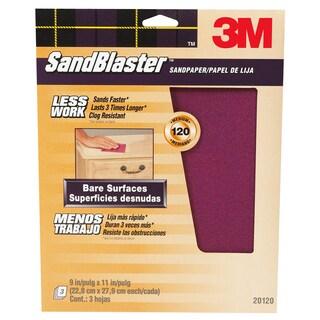3M 20120-G SandBlaster Bare Surface Sandpaper Sheets