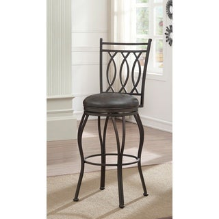 Allison Metal Bonded Leather Counter Height Stool