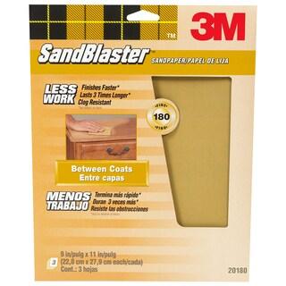 "3M 20180-G 9"" X 11"" 180 Grit SandBlaster Paint Stripping Sandpaper"