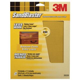 "3M 20220-G 9"" x 11"" 220 Gauge Sandpaper"
