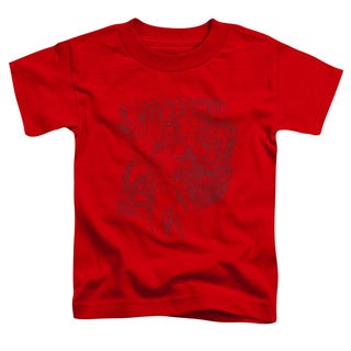 Superman/Code Red Short Sleeve Toddler Tee in Red
