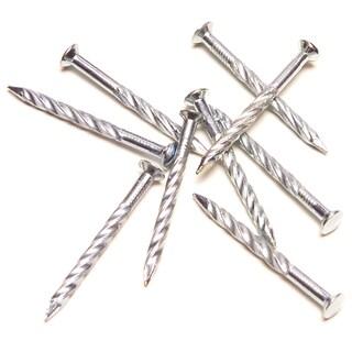 """M-D 95638 1 Lb 1-1/4"""" 13 Gauge Silver Screw Nails"""
