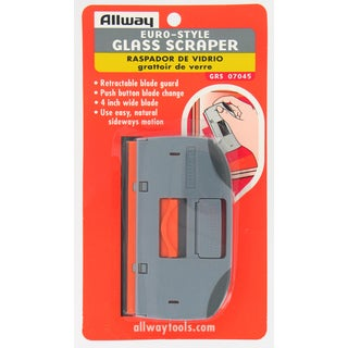 "Allway Tools GRS 4"" Euro Style Glass & Tile Scraper"