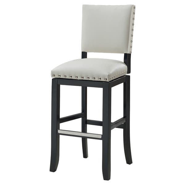 Awe Inspiring Shop Zenith 26 Inch Nailhead Trim White Bonded Leather Dailytribune Chair Design For Home Dailytribuneorg