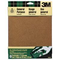 "3M 9003NA 9"" X 11"" Course Paint, Wood, Metal Sandpaper Sheets"