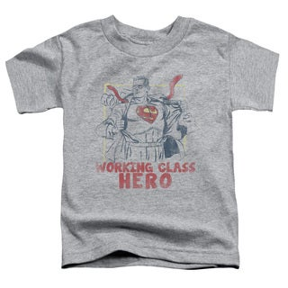 Superman/Working Class Short Sleeve Toddler Tee in Heather