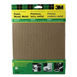 "3M 9005NA 9"" X 11"" Assorted Paint, Wood, Metal Sandpaper Sheets"