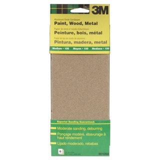"3M 9016NA 9"" Medium Paint, Wood, Metal Sandpaper Third Sheets"