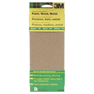 "3M 9016NA 9"" Medium Paint, Wood, Metal Sandpaper Third Sheets"