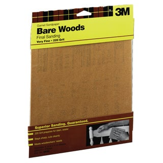 "3M 9035NA 9"" X 11"" Very Fine Bare Woods Sandpaper"