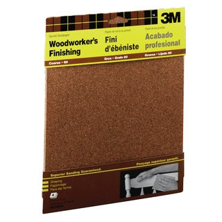 "3M 9038NA 9"" X 11"" Course Bare Woods Sandpaper"