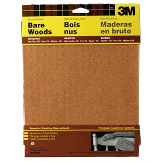 "3M 9040NA 9"" X 11"" Assorted Bare Woods Sandpaper"