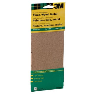 "3M 9015NA 9"" Fine Paint, Wood, Metal Sandpaper Third Sheets"