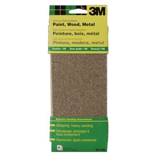 """3M 9017NA 9"""" Course Paint, Wood, Metal Sandpaper Third Sheets"""