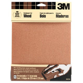 "3M 9037NA 9"" X 11"" Medium Bare Woods Sandpaper"