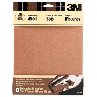 """3M 9037NA 9"""" X 11"""" Medium Bare Woods Sandpaper"""