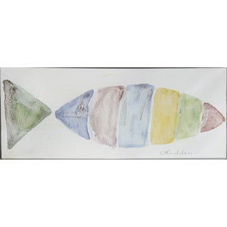 Hadden Spotts 'Fish Art' Canvas Art (8 x 20)