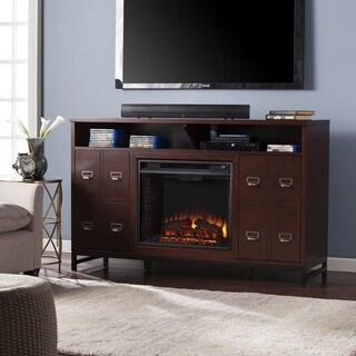 Harper Blvd Roberts Espresso Electric Media Stand Fireplace