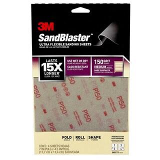 3M 28150SB-UF4 150 Grit Medium Sand Sheet 4-count