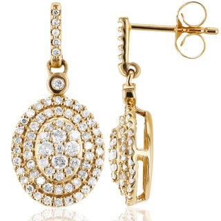 Annello by Kobelli 10k Yellow Gold 1/2ct TDW Diamond Dangle Earrings (H-I, I2)
