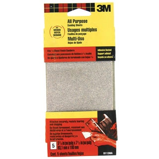 3M 9113DC-NA Medium Finishing Sander Sheets Adhesive Back
