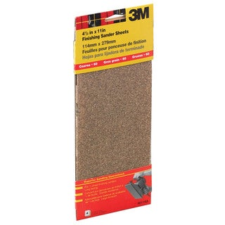 "3M 9011NA 4-1/2"" X 11"" Clip-On Course Finishing Sander Sheets"