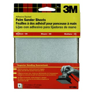 3M 9210DC-NA Medium Adhesive Backed Palm Sander Sheets